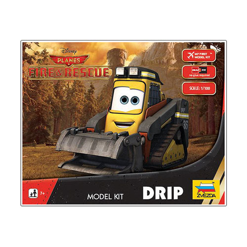Planes Fire and Rescue 1:100 scale Drip Vehicle Snap Fit Model Kit
