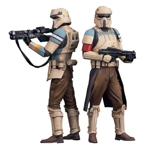 Star Wars Rogue One Scarif Shoretrooper ArtFX+ Statue 2-Pack