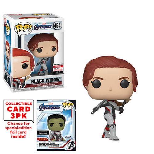 Avengers: Endgame Black Widow Pop! Vinyl Figure with Collector Cards - Entertainment Earth Exclusive