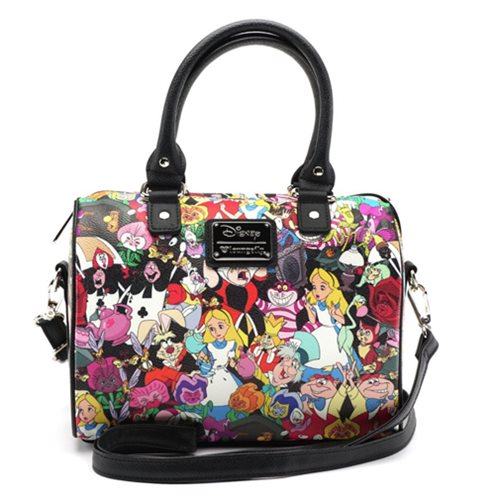 Alice in Wonderland Character Print Duffle Purse