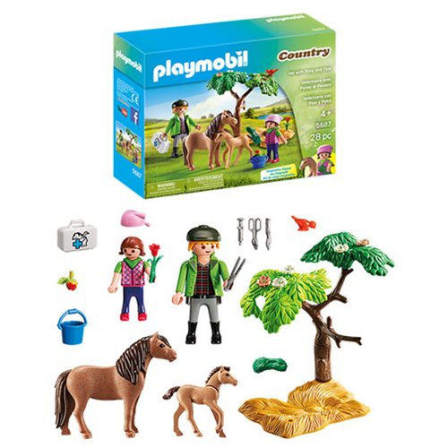 Playmobil 5687 Vet with Pony and Foal