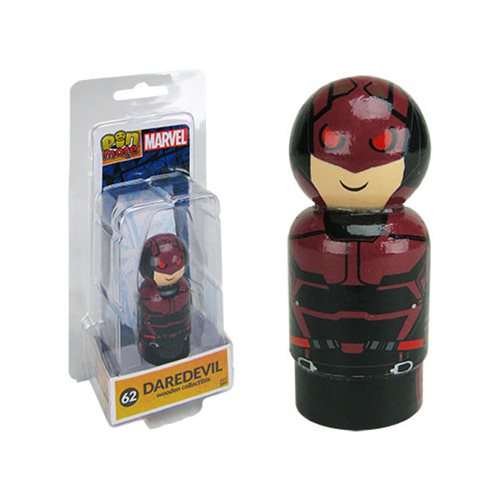 The Defenders Daredevil Pin Mate Wooden Figure