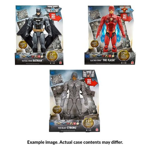 Justice League Movie Lights and Sound 12-Inch Action Figure Wave 3 Case