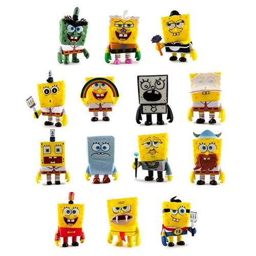 SpongeBob SquarePants Many Faces Mini-Figures Display Tray