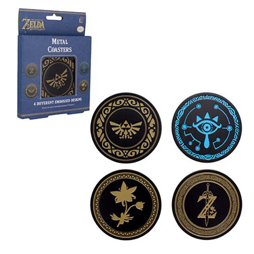 The Legend of Zelda Metal Coaster 4-Pack