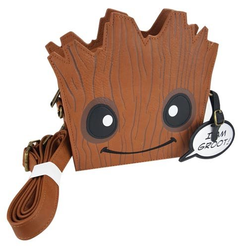 Guardians of the Galaxy Groot Die-Cut Crossbody Purse