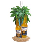 Corona Bottles with Limes On Beach 4-Inch Ornament