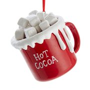 Hot Cocoa Cup with Marshmallows 3-Inch Ornament