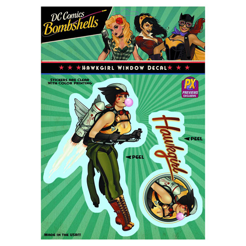 DC Comics Bombshells Hawkgirl Vinyl Decal - Previews Exclusive