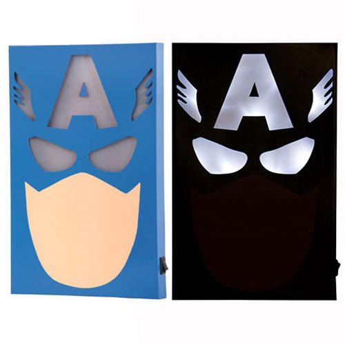 Captain America LED Light-Up Box Art