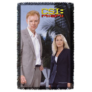CSI: Miami Blue Sky Woven Tapestry Throw Blanket