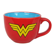 Wonder Woman Shield Logo 24 oz. Soup Mug