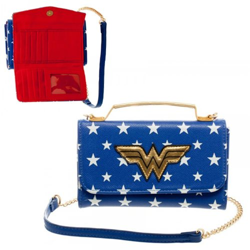 Wonder Woman Inside Out Crossbody Wallet Clutch