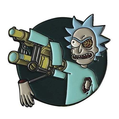 Rick and Morty Bionic Arm Rick Soft Enamel Pin