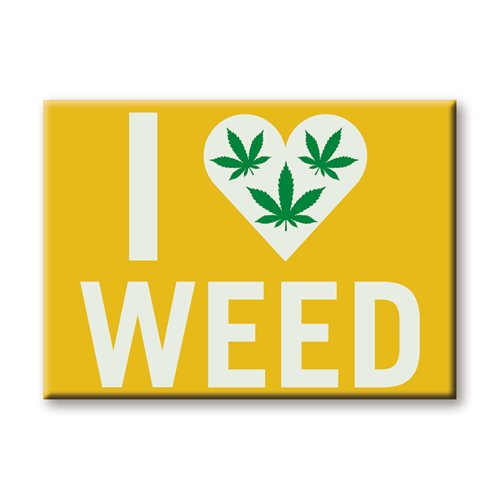 I Heart Weed Flat Magnet