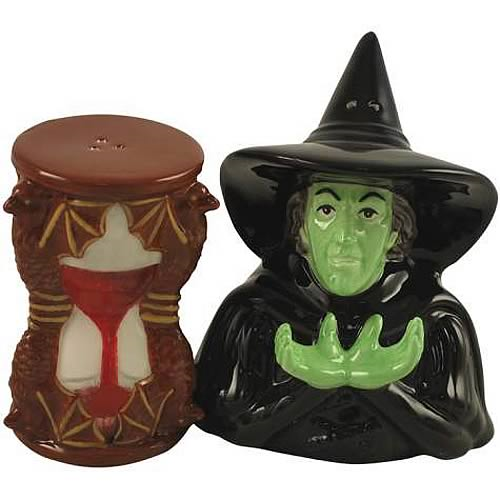 Wizard of Oz Wicked Witch & Hourglass Salt & Pepper Shakers