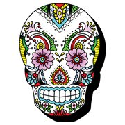 Sugar Skulls Lace Funky Chunky Magnet