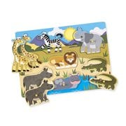 Melissa & Doug Safari 7-Piece Peg Puzzle