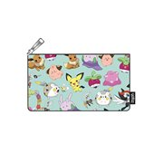 Pokemon Cute Print Aqua Pencil Case