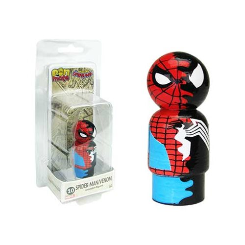 Spider-Man/Venom Dual Identity Pin Mate Wooden Figure