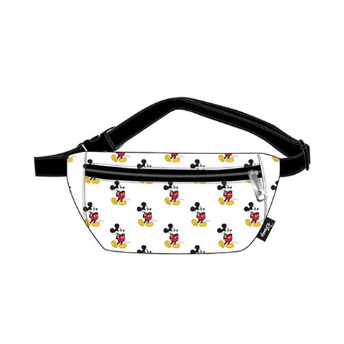 Mickey Mouse White Faux Leather Fanny Pack