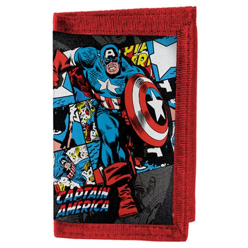 Marvel Comics Captain America Velcro Wallet