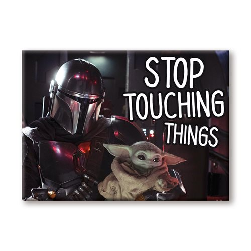 The Mandalorian The Child Stop Touching Flat Magnet