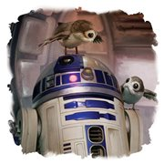 Star Wars: The Last Jedi R2-D2  and Porgs Canvas Print
