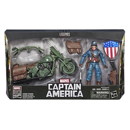 Marvel Legends Ultimate Captain America 6-Inch Action Figure with Motorcycle