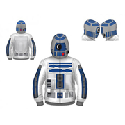 Star Wars R2-D2 Hooded Costume Fleece Zip-Up Hoodie