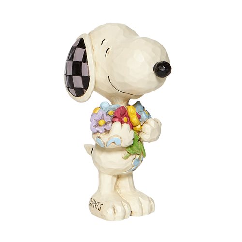 Peanuts Mini Snoopy With Flowers by Jim Shore Statue