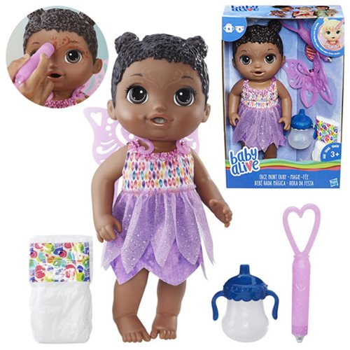 Baby Alive Face Paint Fairy Doll (African American)