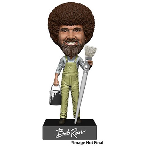 Bob Ross Head Knocker Bobble Head
