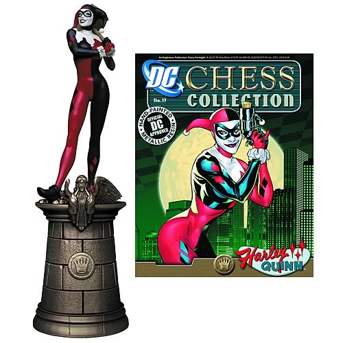 Batman Harley Quinn Black Queen Chess Piece with Magazine
