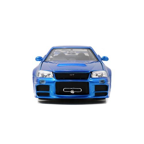 Fast and the Furious 2002 Nissan Skyline GT-R R34 1:24 Scale Die-Cast Metal Vehicle