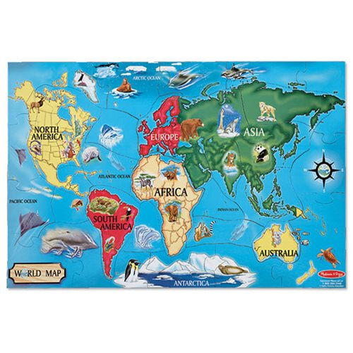 World Map Floor 33-Piece Puzzle