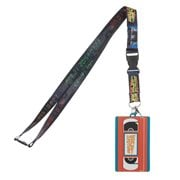 Back to the Future Lanyard with Molded Rubber VHS ID Holder
