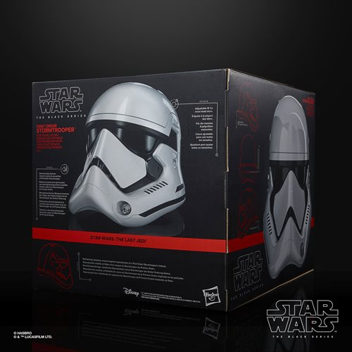 Star Wars The Black Series First Order Stormtrooper Premium Electronic Helmet Prop Replica