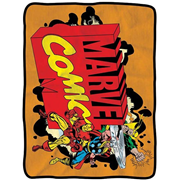 Marvel Logo Fleece Throw Blanket