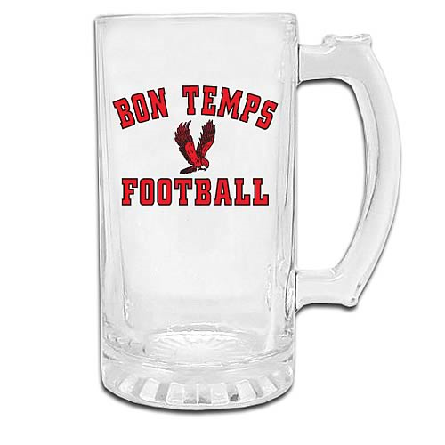 True Blood Bon Temps Football Glass Stein