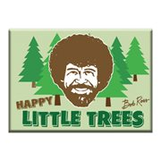 Bob Ross Little Trees Flat Magnet