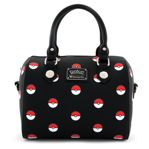 Pokemon Pokeball Print Black Duffle Purse