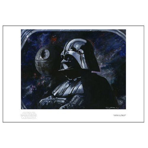 Star Wars Sith Lord by Kim Gromoll Paper Giclee Print