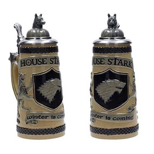Game of Thrones House Stark Ceramic Stein with Cap