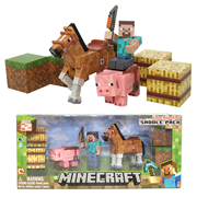 Minecraft Steve Saddle Up Action Figure Pack