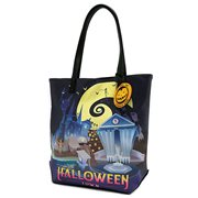 Nightmare Before Christmas Halloween and Christmas Town 2-Sided Tote Purse