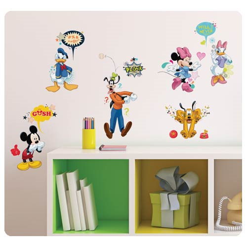 Mickey Mouse and Friends Animated Fun Wall Decals