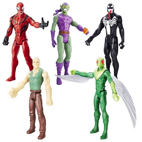 Spider-Man Titan Heroes Villain Figures 2017 Wave 2 Case