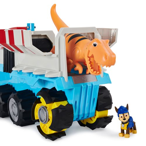 PAW Patrol Dino Rescue Dino Patroller Motorized Team Vehicle with Chase and T-Rex Figure