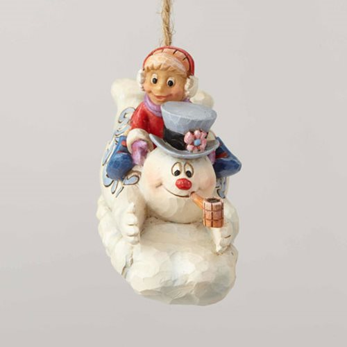 Frosty the Snowman Frosty and Karen Sledding Ornament by Jim Shore